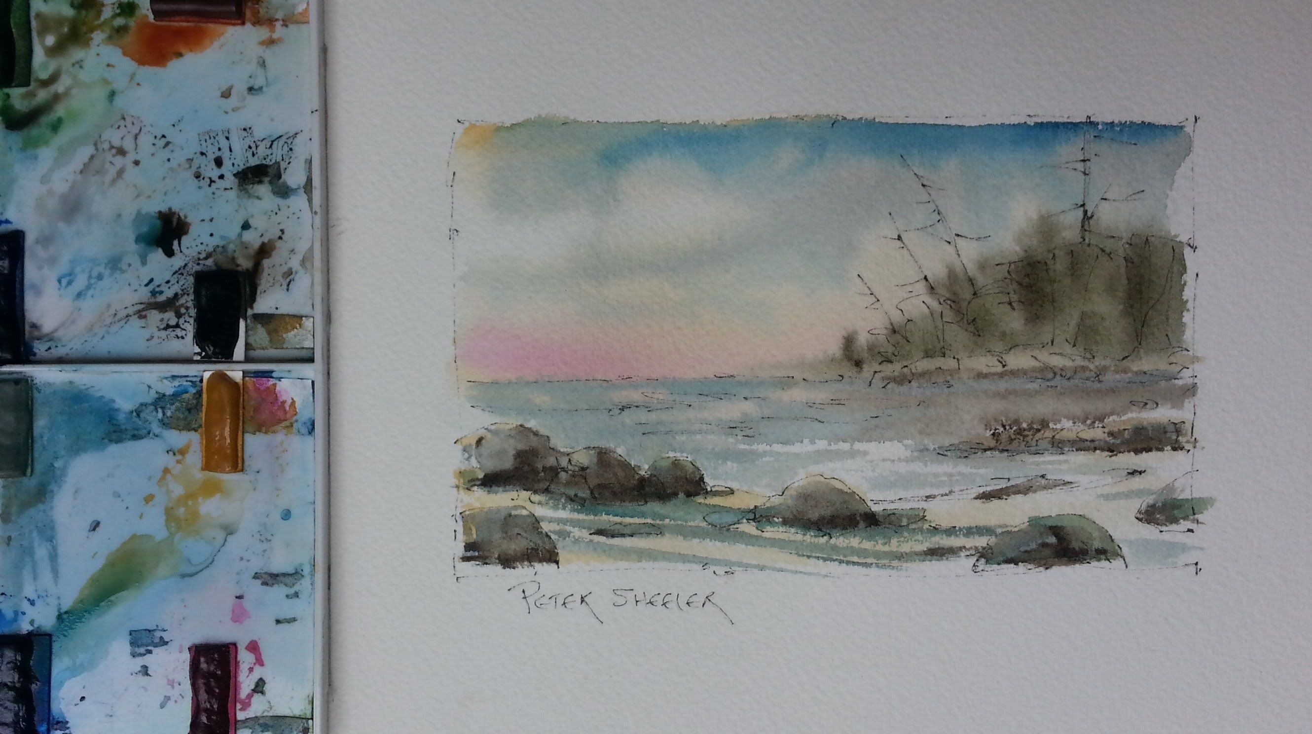 This Is A Quick Wet Into Wet Watercolour Study On Arches Cold