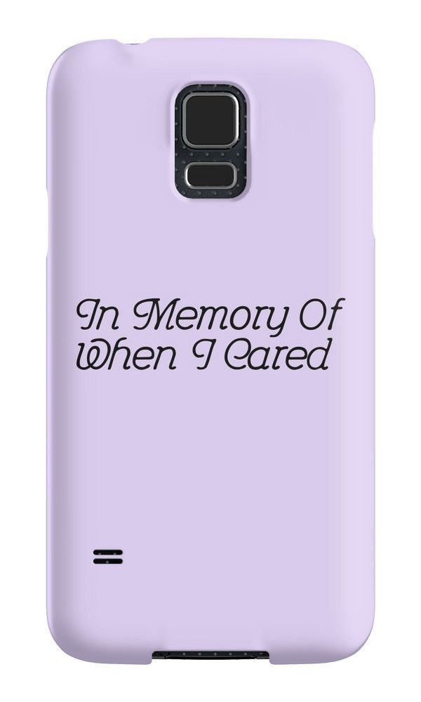 cheap for discount 8e723 7c7d3 In Memory Of When I Cared - Lavander' Case/Skin for Samsung Galaxy ...