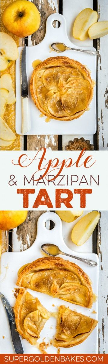 This simple apple and marzipan puff pastry tart is absolutely divine! Serve warm with a generous drizzle of salted caramel and maybe a scoop of vanilla ice cream.