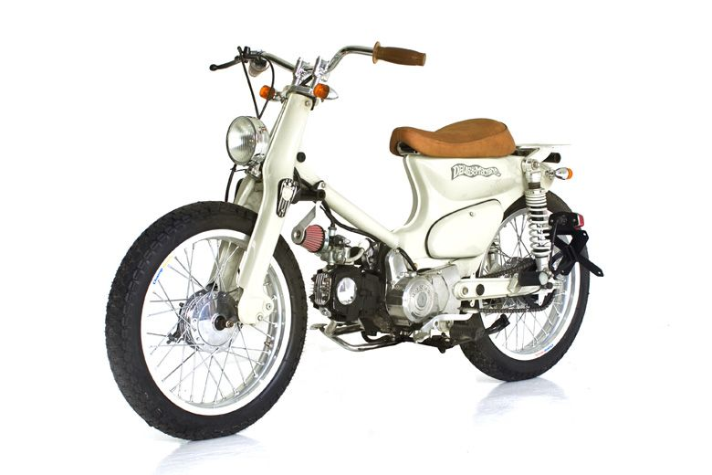 C70 brown custom motorcycles and surfboards for Honda motor parts near me