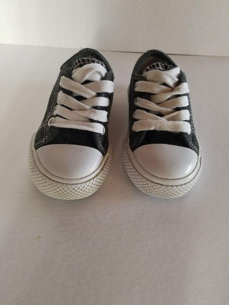 Children's Toddler Black & White Tennis Shoes Size 5