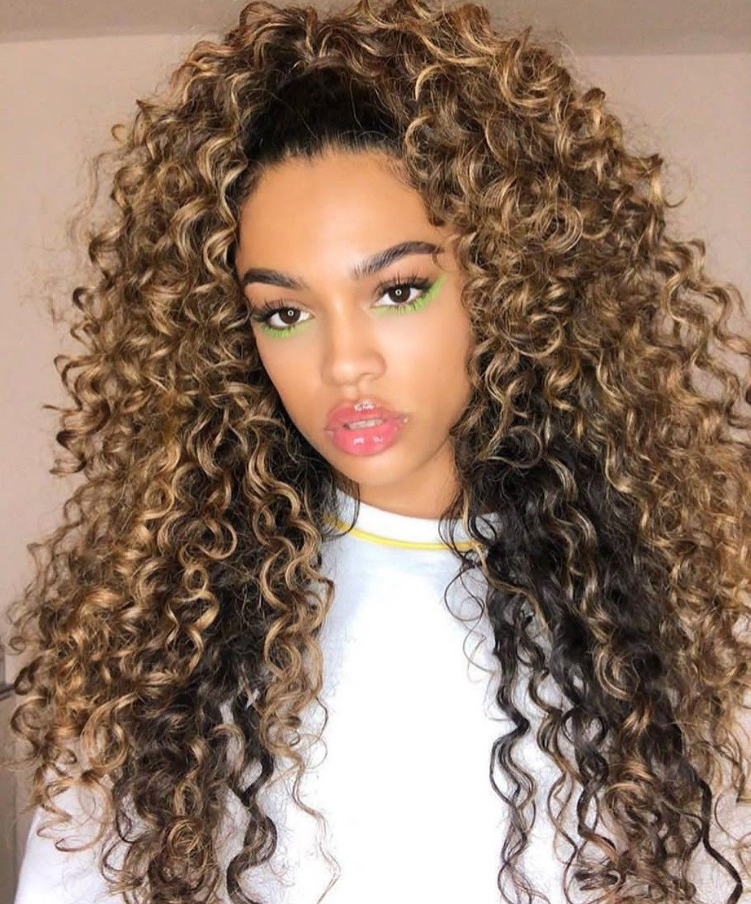 Beautiful Colored curly hair, Beautiful curly hair