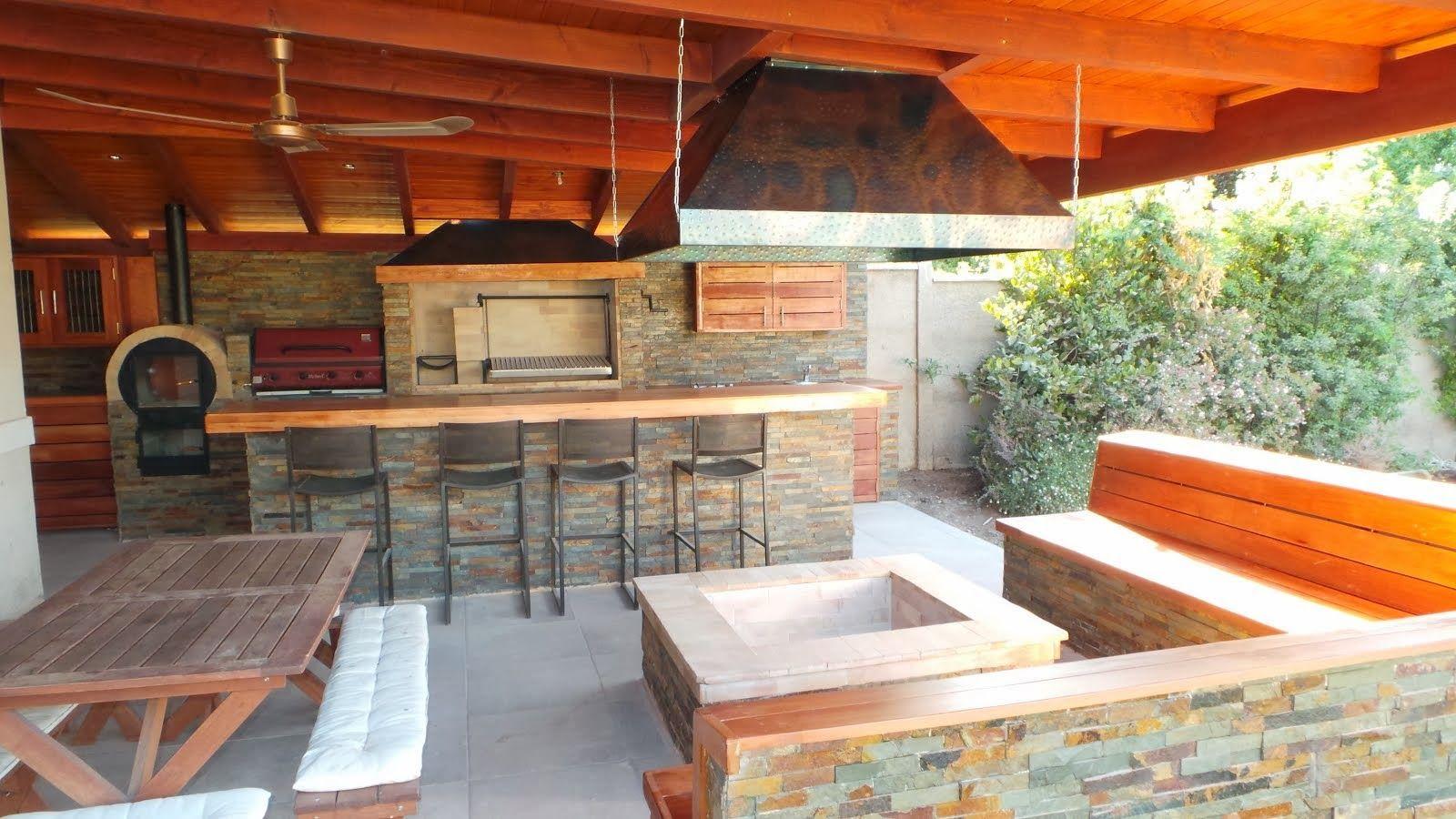 quinchos | Quinchos, Quincho y terrazas, Cocina al aire libre