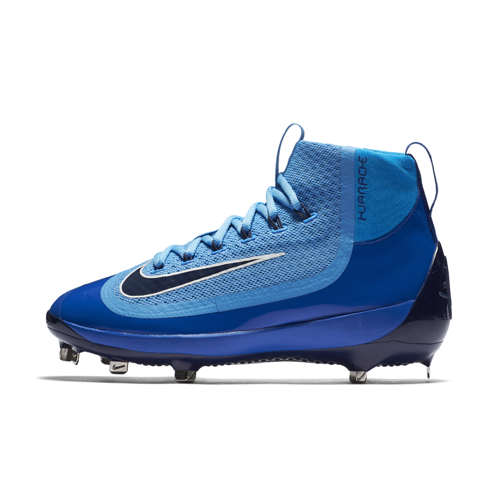 best service f0407 641c3 Nike Alpha Huarache 2K Filth Mid Men's Baseball Cleats Size 8.5 (Blue) - Clearance  Sale