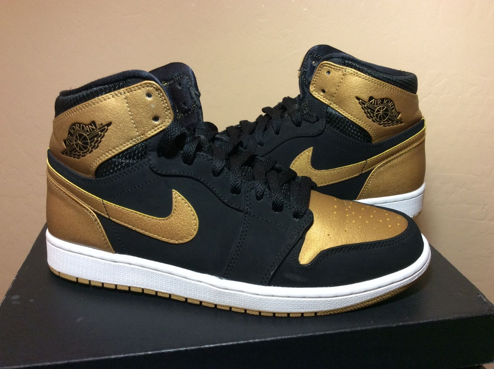 3a02de5bc43be5 Air Jordan Retro 1 High Melo Black Gold royal bred shadow OG Chicago sbb