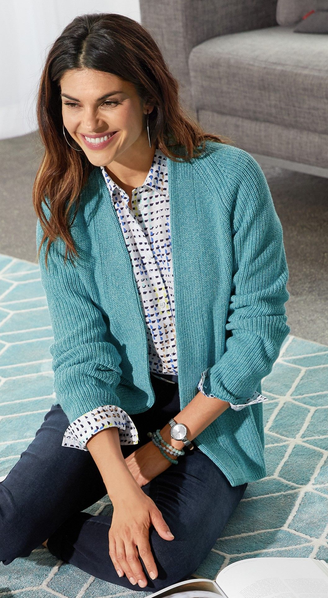 Damen Outfit Gemutliche Verstrickung In 2021 Outfit Modestil Walbusch