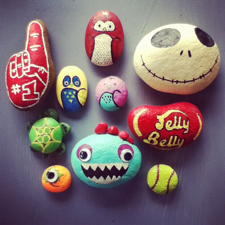 Rock painting ideas painted rocks pinterest rock - Where to buy rocks to paint ...