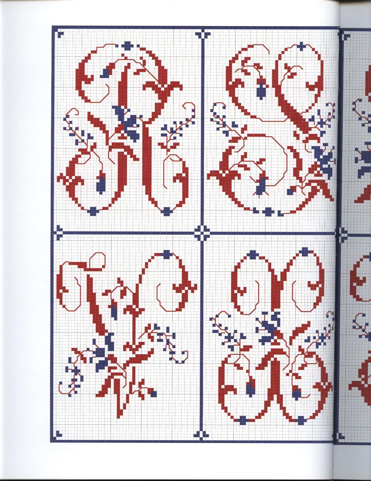 VERONIQUE MAILLARD Frises & Alphabets anciens bicolores (ROUYER 145)