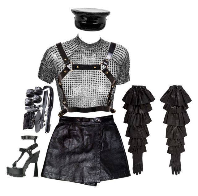 """""""PSS PSS"""" by auroralaufeyson ❤ liked on Polyvore featuring Rodarte, Versace, Dora Mojzes and Manokhi"""
