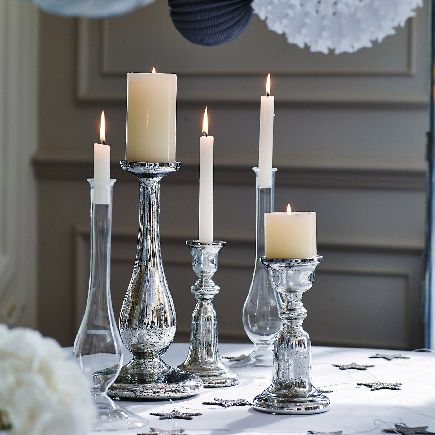 Bell Pillar Candle Holder The White Company Home and decor ideas