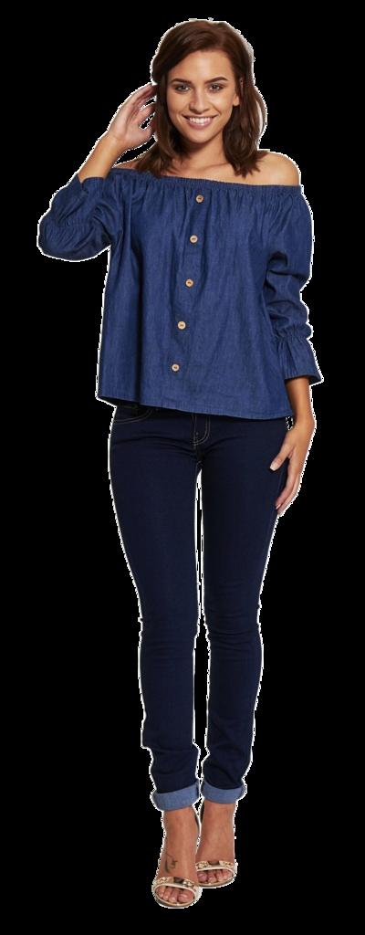 Dark Blue Skinny Denim Jeans