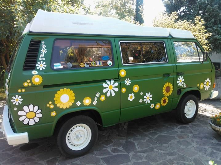 Flower Power T3 Vw Camper Van Decals And Stickers By Hippy Motors