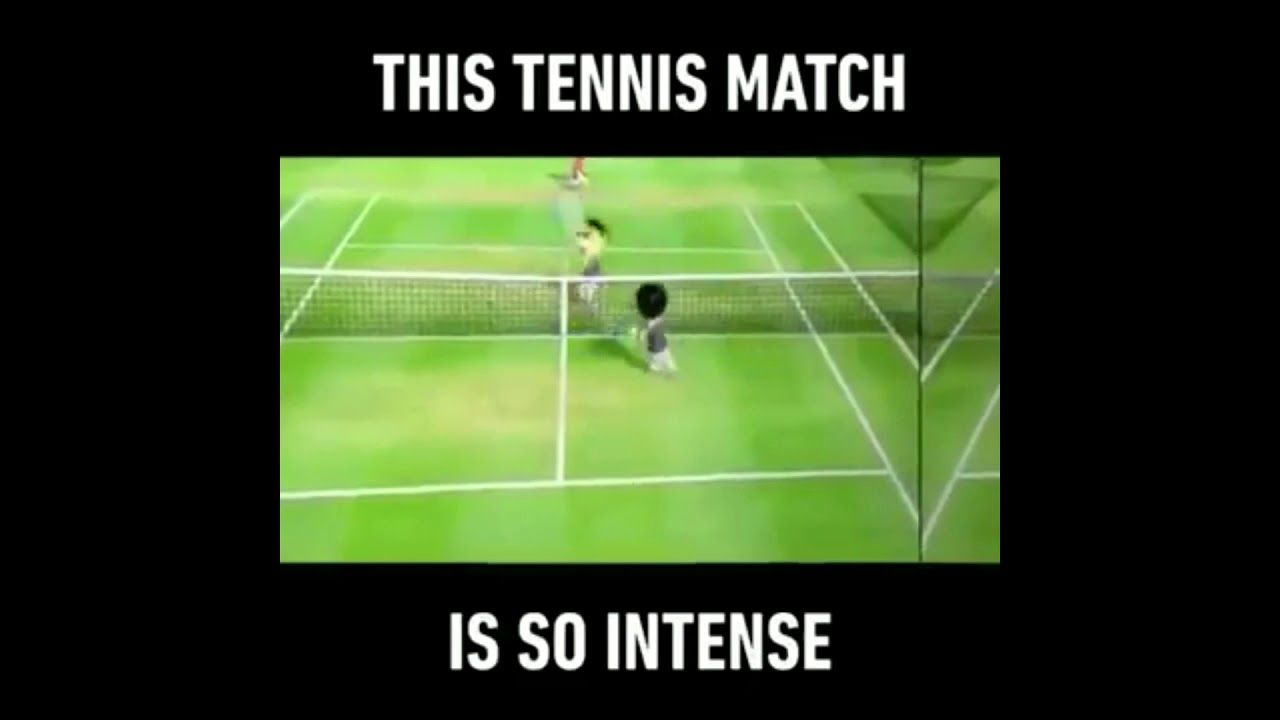 Wii Sports Tennis Back And Forth Meme W Voiceover Wii Sports Tennis Funny Sports Memes