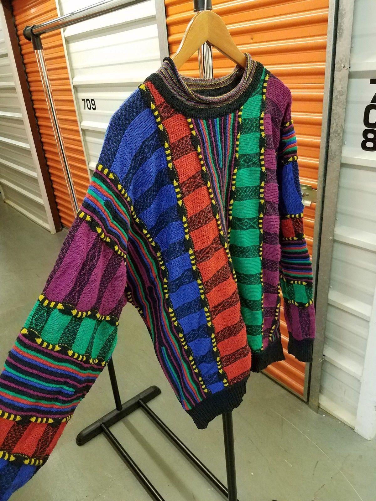 beef61cf31e Vintage Carlo Colucci Sweater 90 s Biggie Hip Hop Coogi Style LG Australia  Cosby