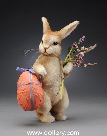 """*FELT ART ~ """"Peter Cotton Tail"""", made of the finest mohair plush + wool felt, by: R. John Wright Collectible Dolls"""