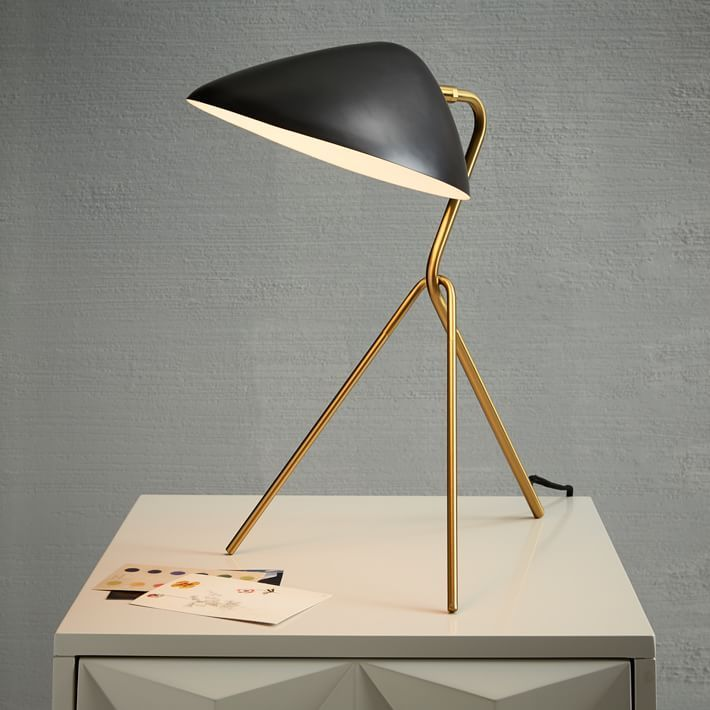 curvilinear midcentury table lamp - Modern Table Lamp