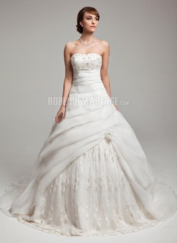 Robe de mariee courte en dentelle pas cher