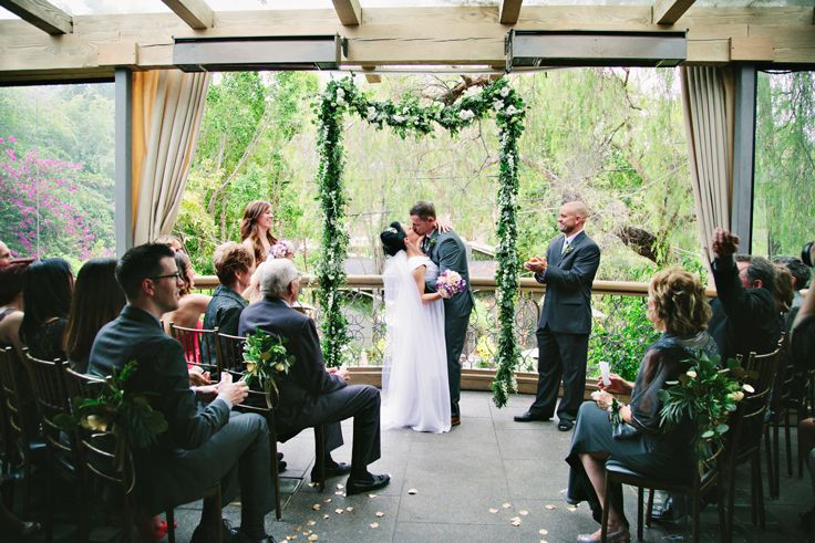 Wedding Ceremony Photo By Wisteria Photography Fls Poppyhill Flowers The Villa Woodland Hillswedding
