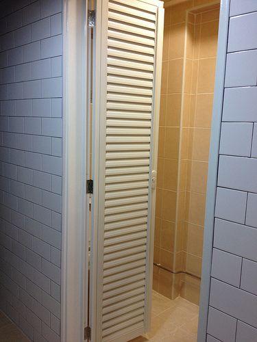 Louvred Pd Door Bathroom In 2019 Tall Cabinet Storage