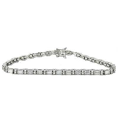 asp white cut gold bracelet p baguette diamond
