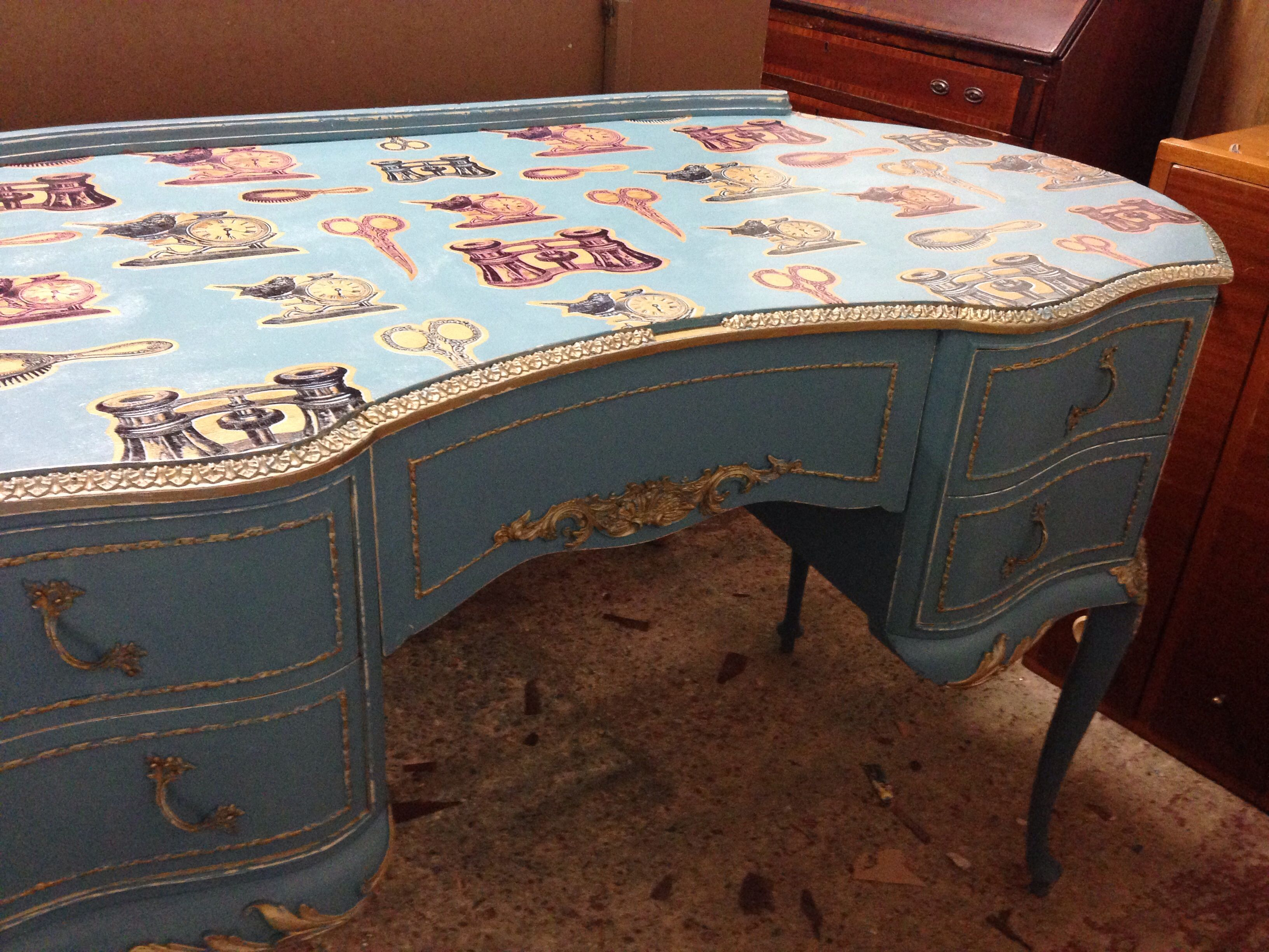 Decoupage dressing table UPCYCLED FURNITURE