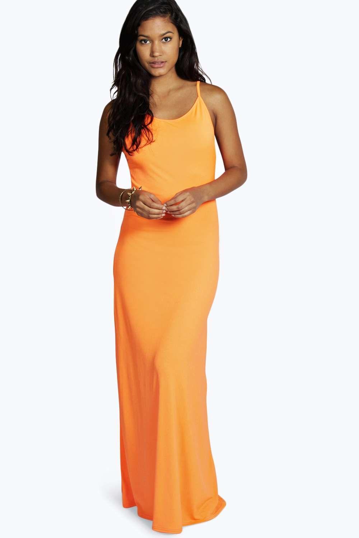Clarissa low back neon maxi dress alternative image shopping