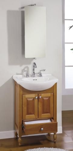 22 Inch Single Sink Narrow Depth Furniture Bathroom Vanity With Enchanting Narrow Depth Bathroom Vanity Design Ideas