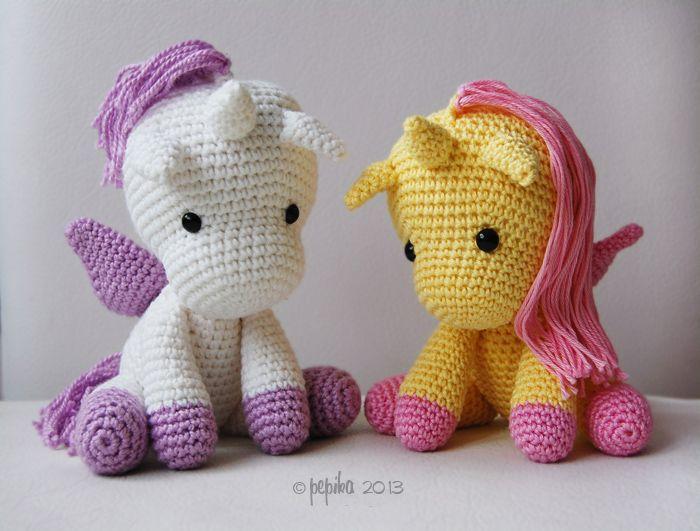 Amigurumi Unicornio Patron Gratis : Amigurumi unicorns! love love love them! #amigurumi # ...