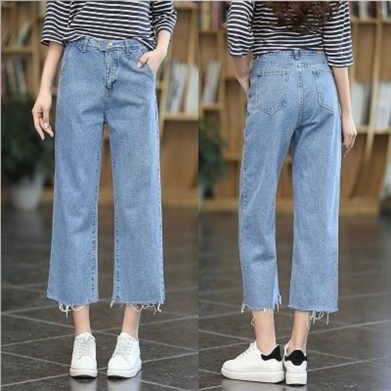 Compare Prices on Cropped Wide Leg Jeans- Online Shopping Buy Low ... 1640d579bd