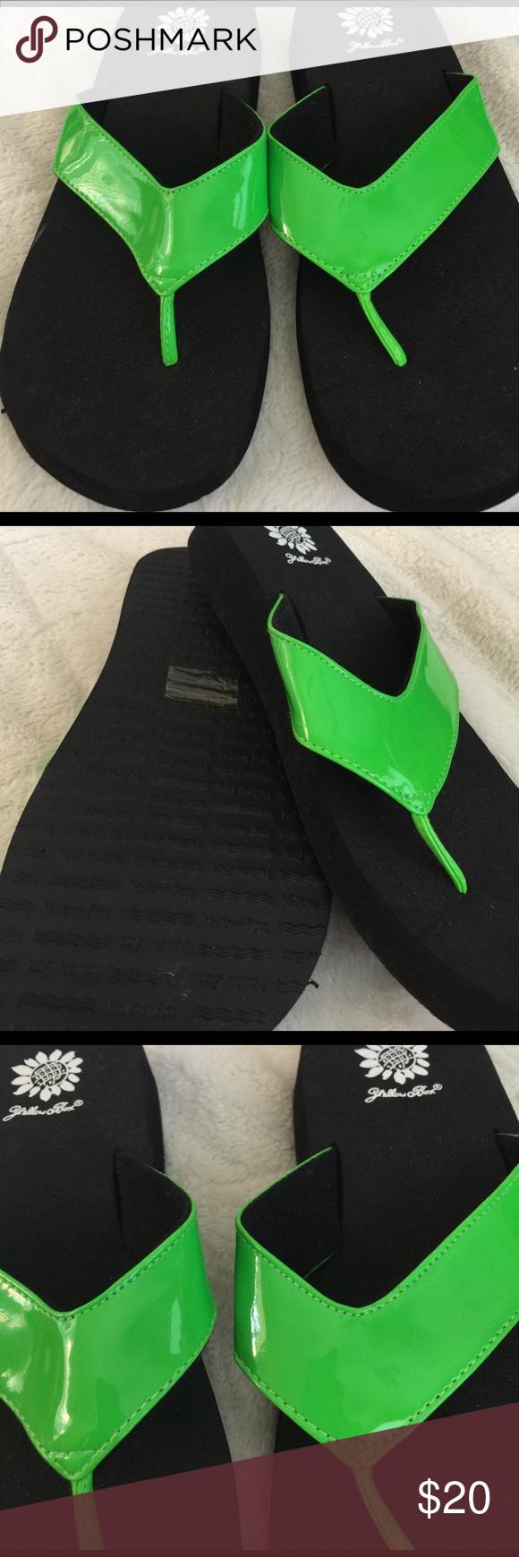 Yellow box size 9 flip flops brand new Yellow box size 9 flip flops brand new green Yellow Box Shoes Sandals
