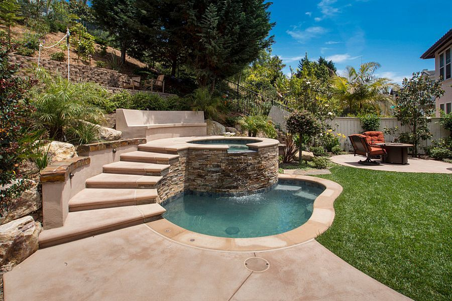23 Small Pool Ideas To Turn The Backyard Into A Relaxing Retreat Small Pool Design Small Inground Pool Backyard Pool