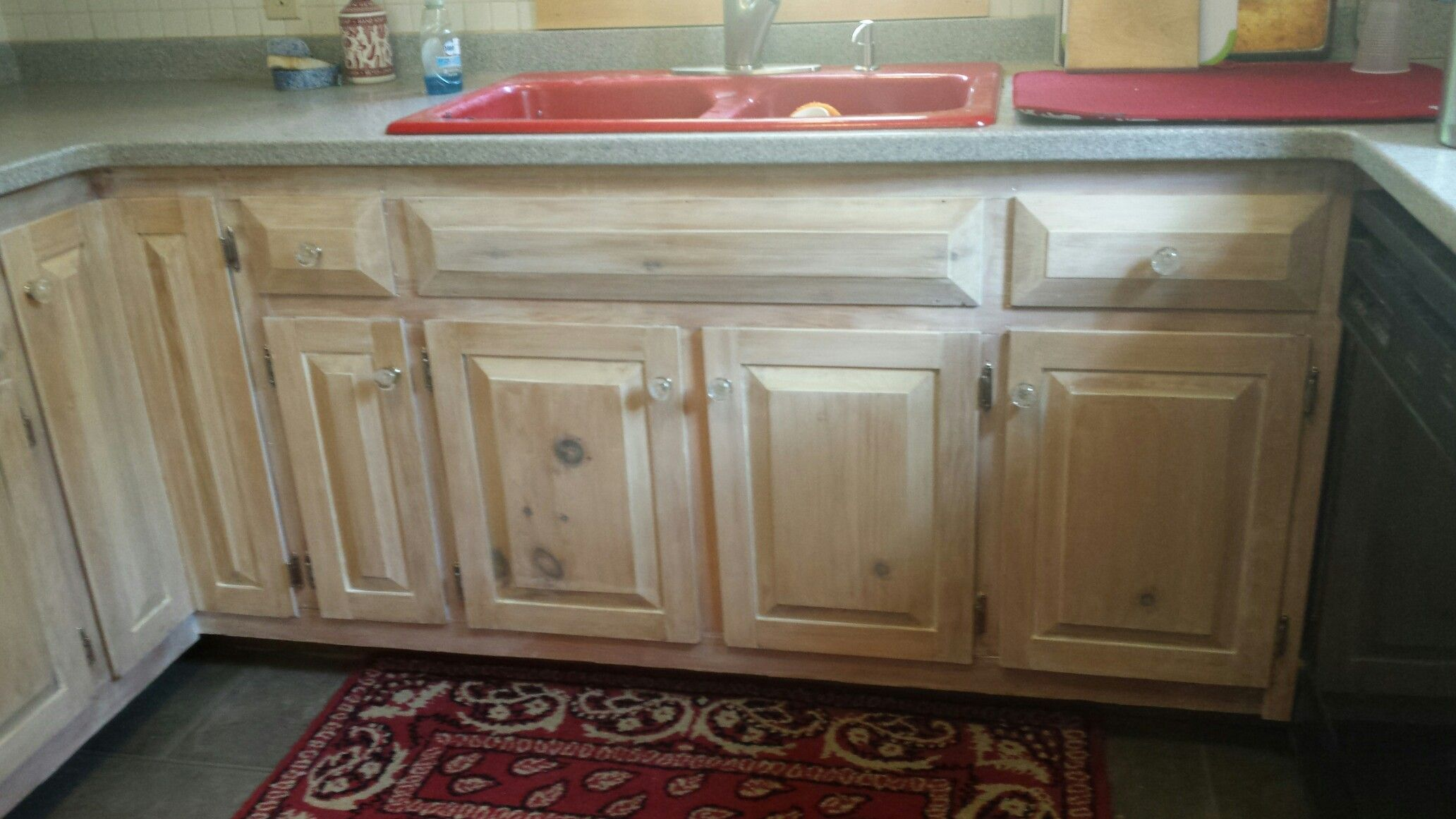 Pickled Kitchen Cabinets 40 Year Old Pine Stripped And Whitewashed Give This A Fresh Clean Upgrade