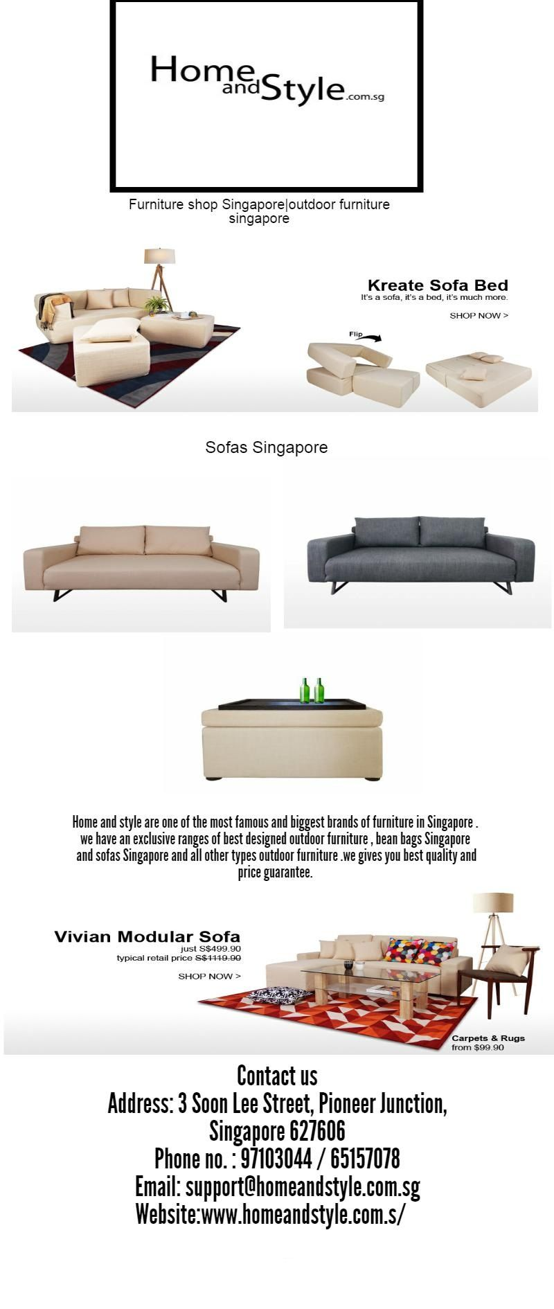 Home And Style Are One Of The Most Famous And Biggest Brands Of Furniture In Singapore We Have An Exclusive Ranges Of Best Desig Sofa Furniture Shop Sofa Bed