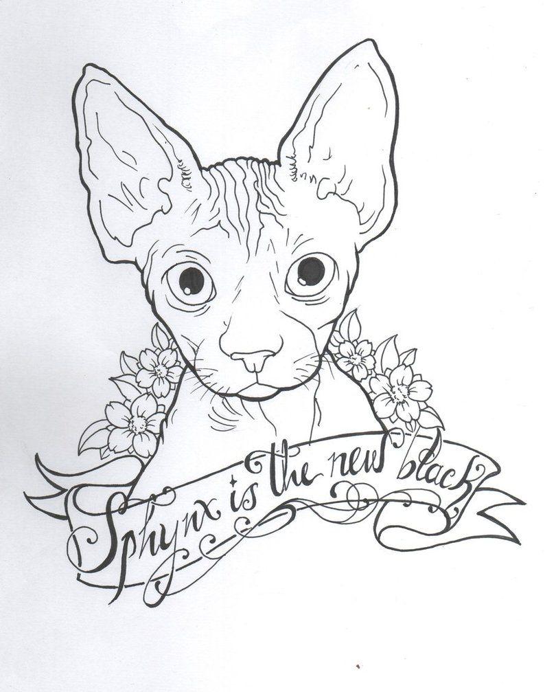Sphynx Cat Tattoo Designs Wolfcat Catsincare Com Cat Tattoo Sphynx Cat Tattoo Cat Tattoo Designs