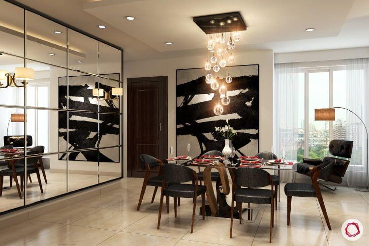 Vastu Shastra Tips For Mirror Placement At Home Modern Bedroom Lighting Dining Room Decor Dining Room Wall Decor