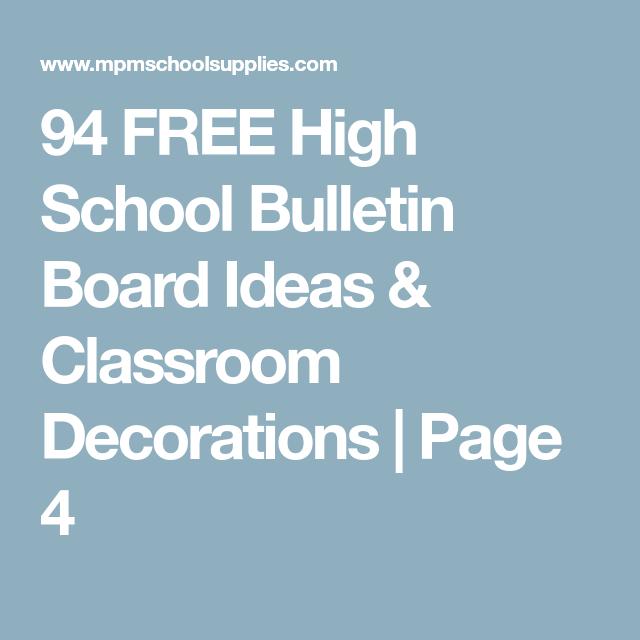 94 Free High School Bulletin Board Ideas Classroom Decorations