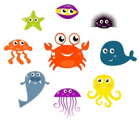 Underwater Sea Mobile Craft Project Kraftykid Animal Icon Underwater Creatures Sea Creatures