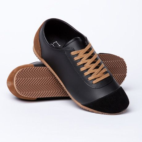 Lak Quell Leather Suede Sneaker Black Brown Leather Suede Sneakers Black Suede Sneakers