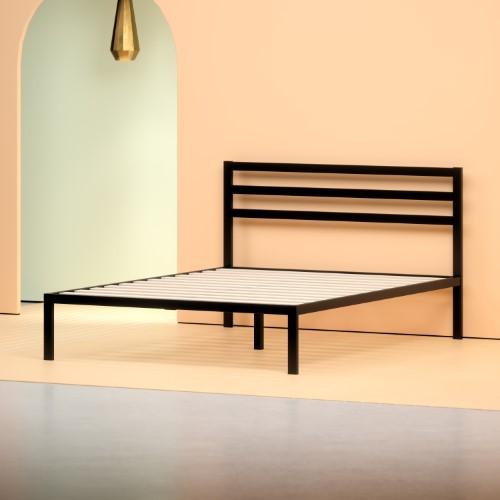 Zinus 14 Metal Grey Platform Bed With Headboard Metal