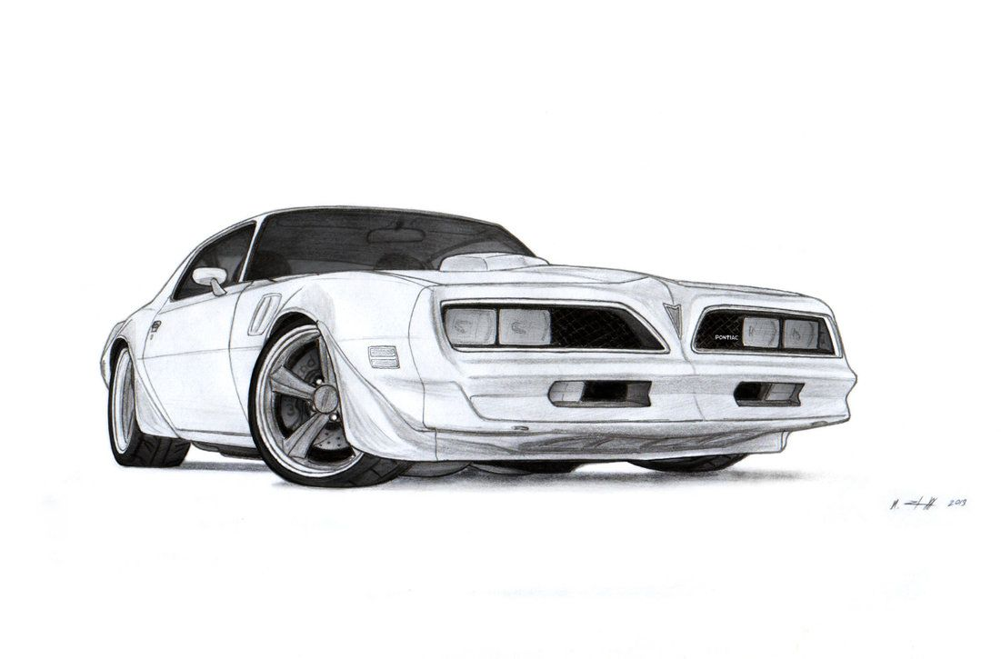 1978 Pontiac Firebird Trans Am Drawing By Vertualissimo 1950