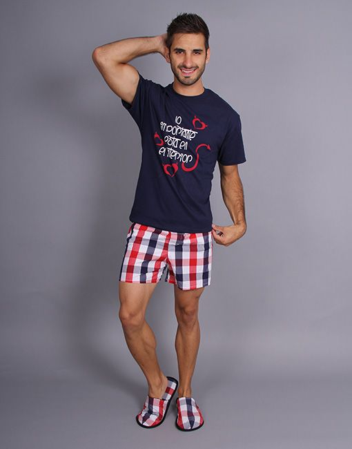 Hombre Short Pijama Modelo 2019 Jhs0019Pijamas En nX0O8wkP