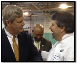 Chef Budd meets Tom Vilsack and Mayor Nutter