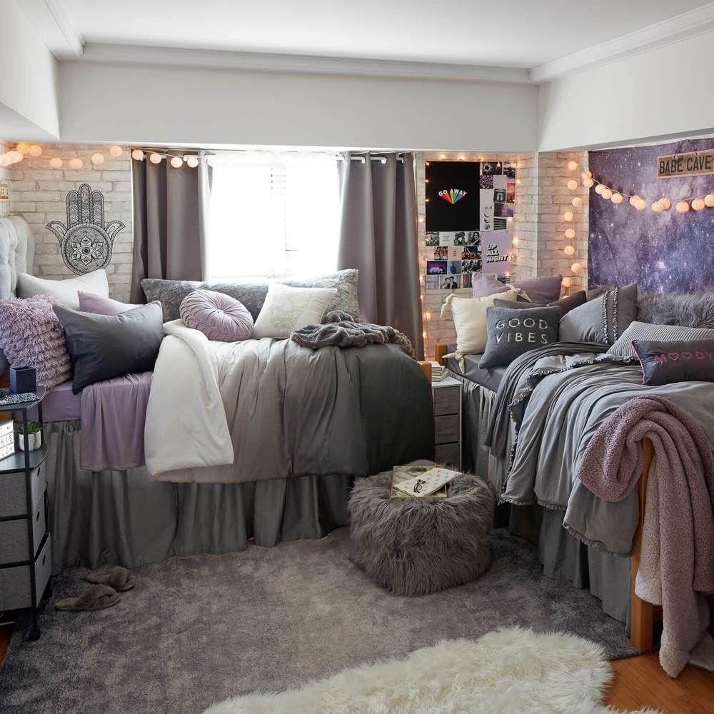 Grey Ombre Comforter And Sham Set Dorm Inspiration Girls Dorm Room Dorm Room Designs