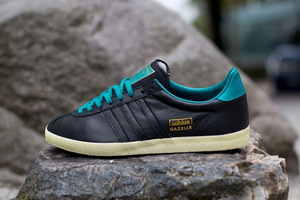adidas Gazelle OG | Black & Teal - EU Kicks: Sneaker Magazine ...