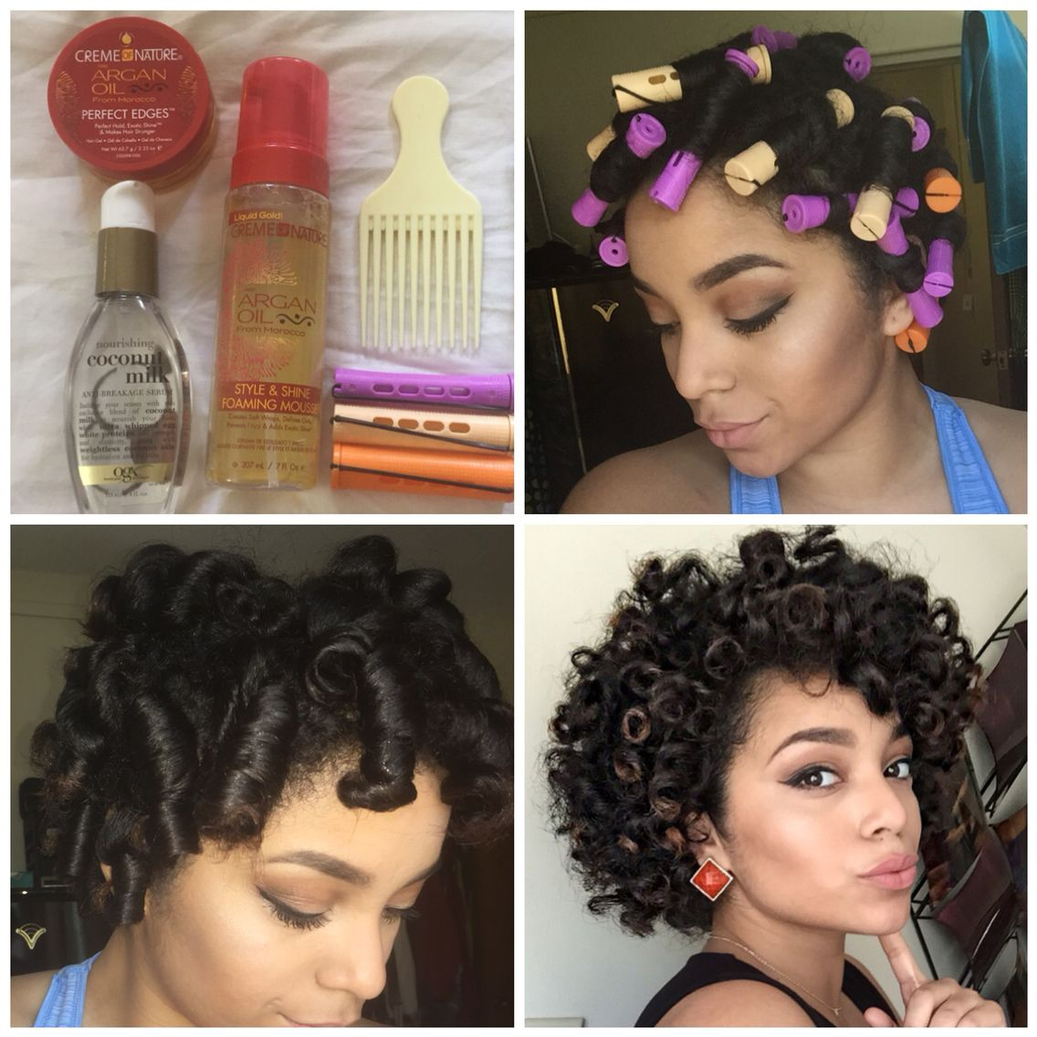 Perm Rod Set on Natural Hair! Check out more at actually