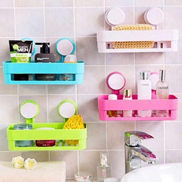 Kitchen Outstanding Plastic Bathroom Shelf Storage Box Organizer