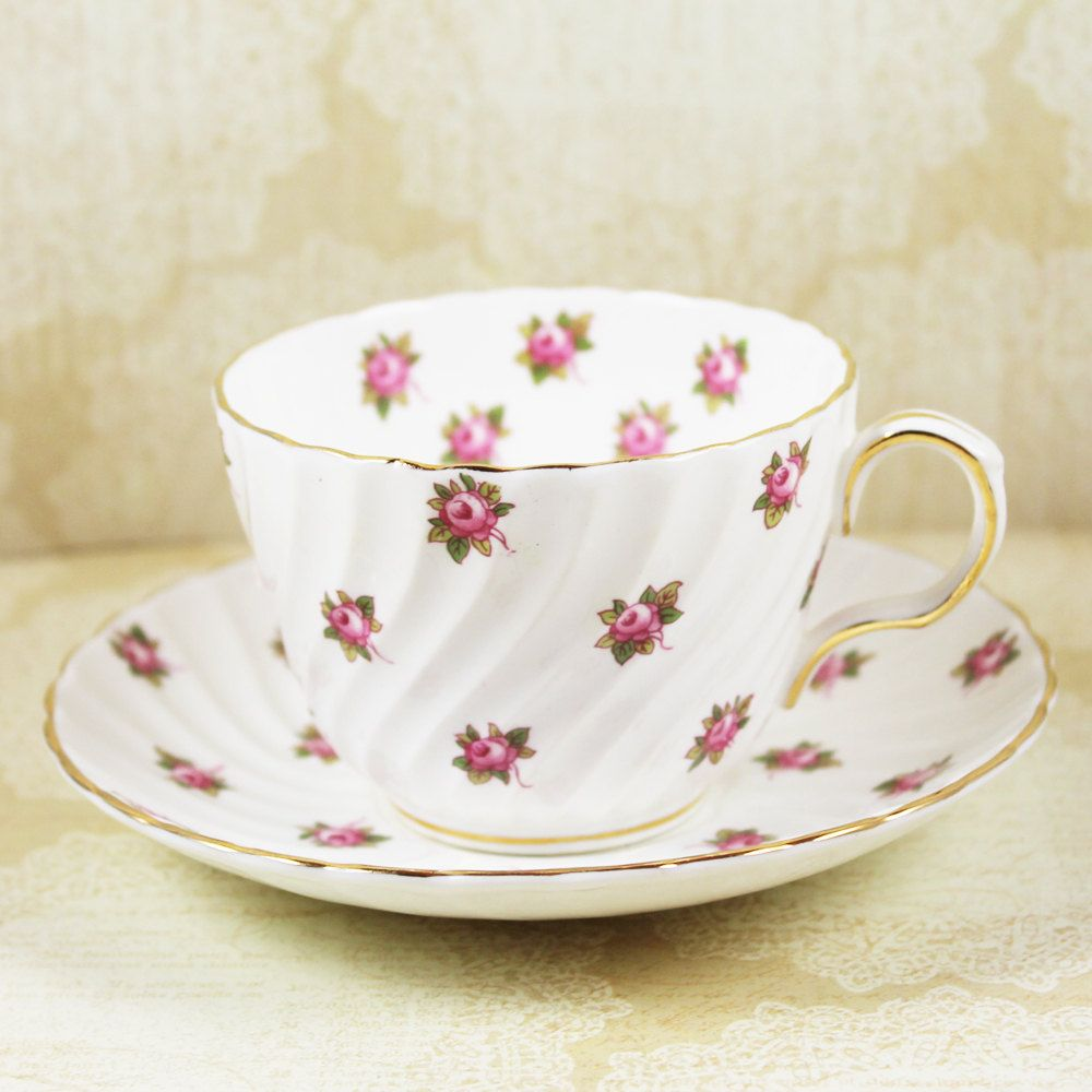 Antique Bone China Cup And Saucer Fancy Colours Antiques