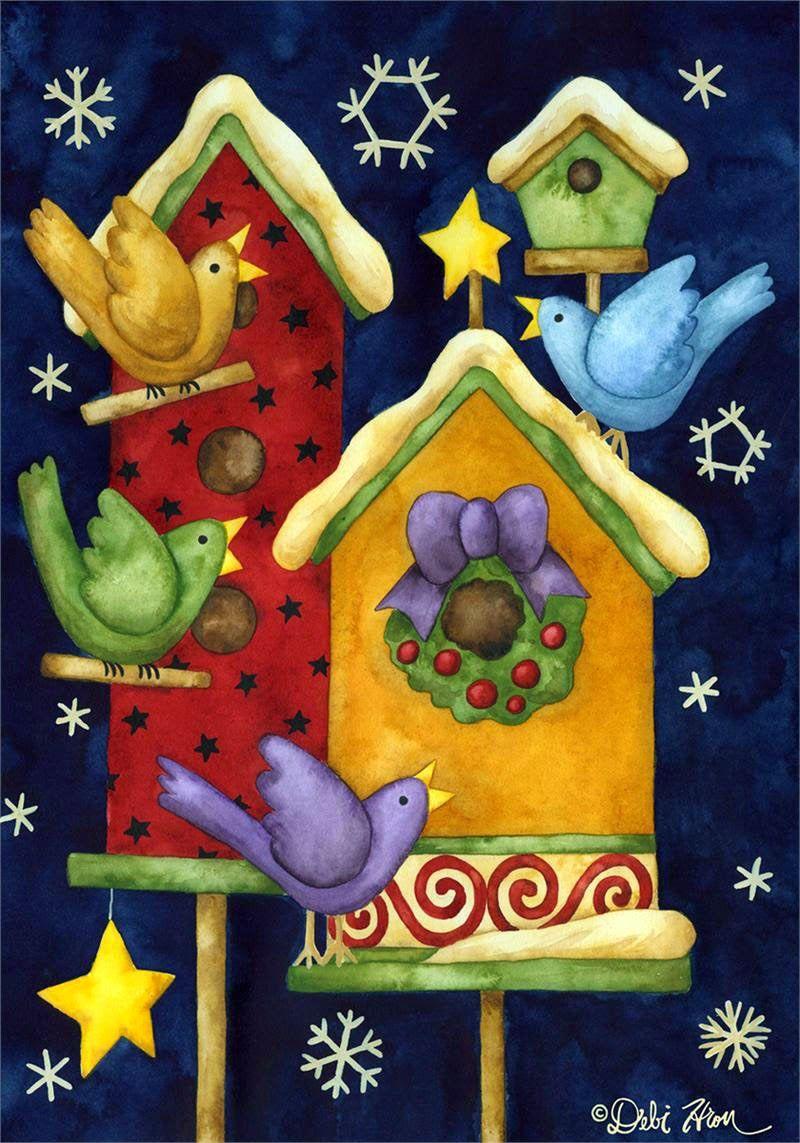 Художница Debi Hron. Картинки для творчества | Christmas ...