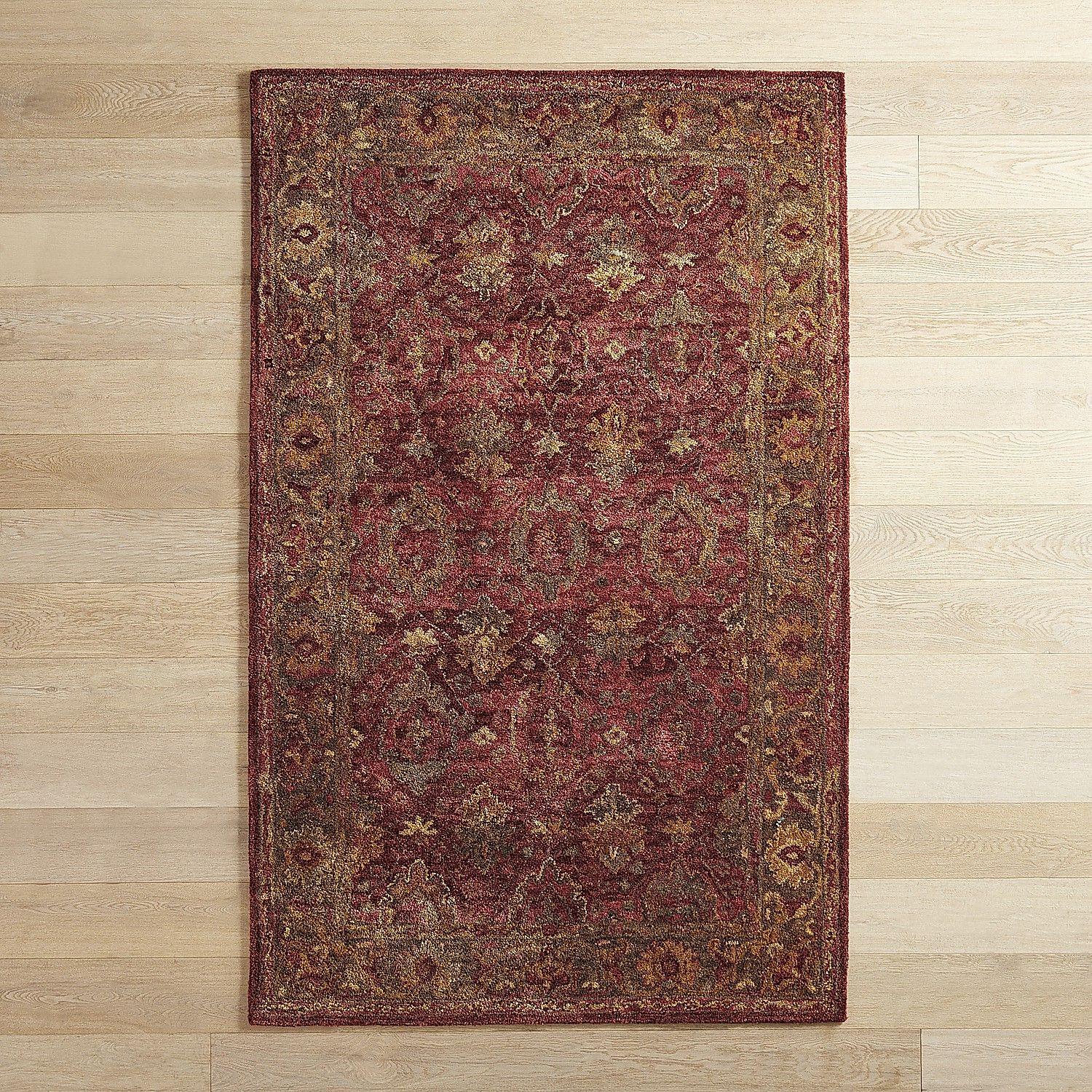 Kamryn Border Traditional 5x8 Wool Rug Rugs Area Rugs