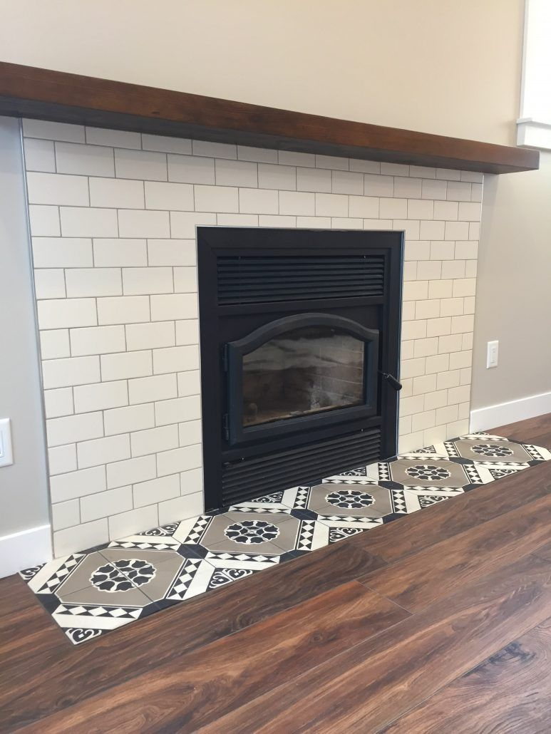 Cement Tile Subway Tile Fireplace Surround Fireplace Tile Surround Fireplace Tile Subway Tile Fireplace
